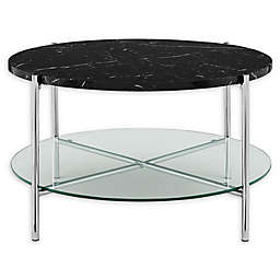 "Forest Gate 32"" Giselle Modern Round Faux Marble Coffee Table"