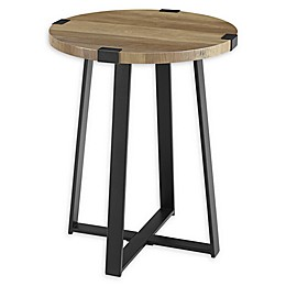 Forest Gate Sage Industrial Modern Round Side Table