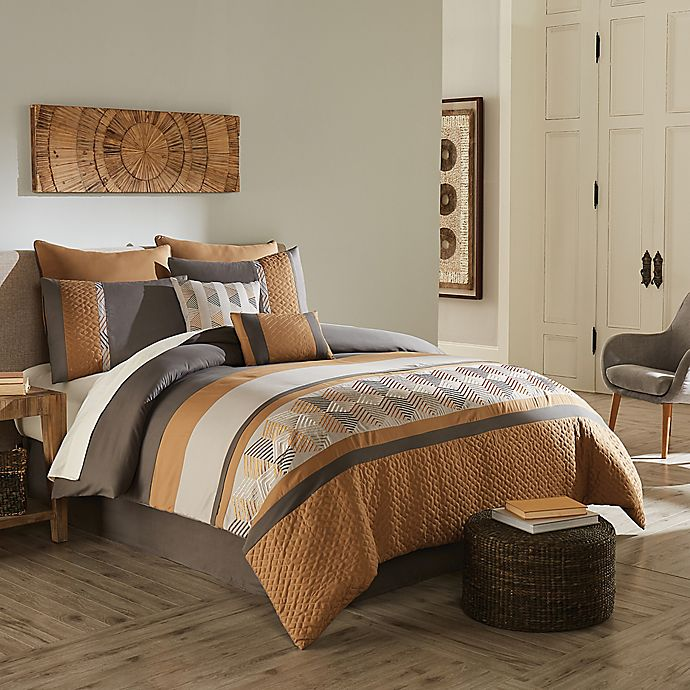 Alternate image 1 for Diamante 6-Piece Twin Comforter Set in Gold