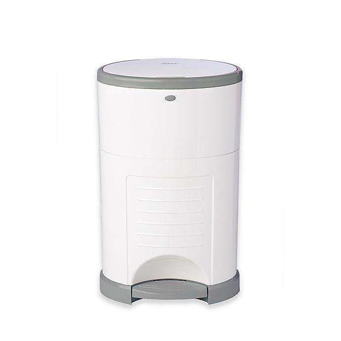 Alternate image 1 for Dékor® Plus Hands-Free Diaper Pail in White with Refill