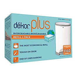 Dékor® Plus Hands-Free Biodegradable Diaper Pail Refills (2-Pack)