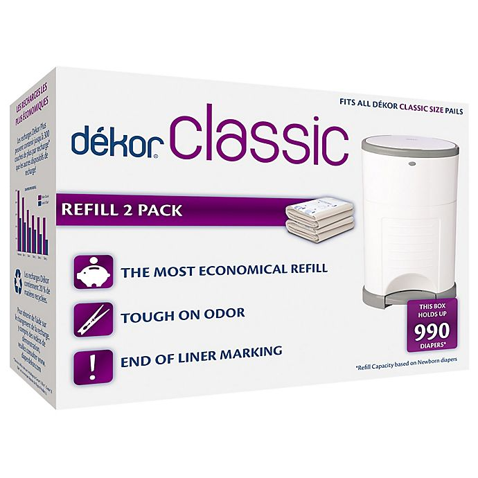 Alternate image 1 for Dékor® Classic Hands-Free Diaper Pail Refills (2-Pack)
