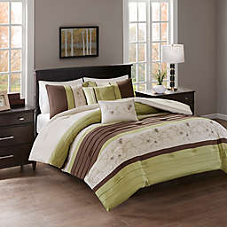 Myrtle Embroidered Reversible Comforter Set