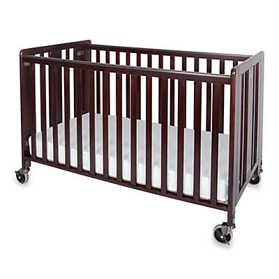 Foundations® HideAway™ Easy Roll Folding Fixed Side Full-Size Crib in Antique Cherry