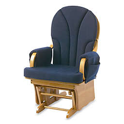 Foundations® Lullaby™ Adult Glider in Natural/Navy Blue