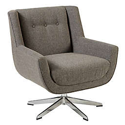 INK+IVY Wood Swivel Nina Chair