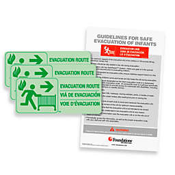 Foundations® First Responder™ Evacuation Route Sign Kit