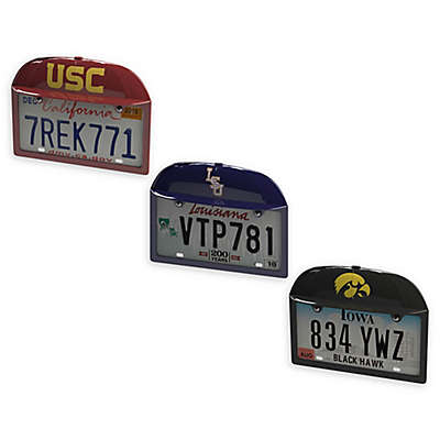 Collegiate Baseball Cap License Plate Frame Collection