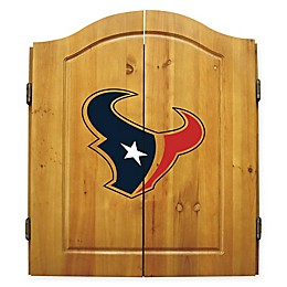 NFL Houston Texans Dartboard and Cabinet Set