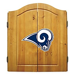 NFL Los Angeles Rams Dartboard and Cabinet Set