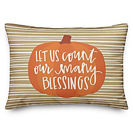 Count Our Blessings Oblong Throw Pillow