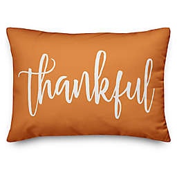 Thankful & Blessed Oblong Throw Pillow