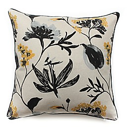 A Touch of Floral Square Throw Pillow
