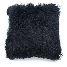 Mongolian Lamb Wool 18-Inch Square Throw Pillow