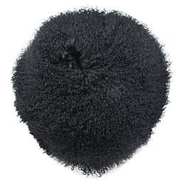Mongolian Lamb Wool 16-Inch Square Throw Pillow