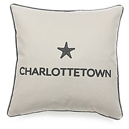 Celebrating Canada Charlottetown Throw Pillow in Black/Linen