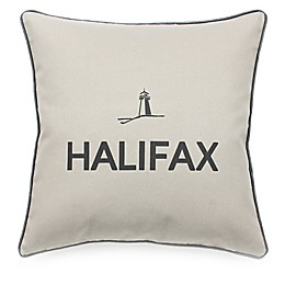 Celebrating Canada Halifax Throw Pillow in Black/Linen