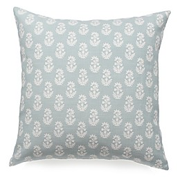 Paisley Square Throw Pillow in Blue