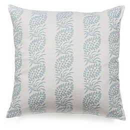 Block Print Throw Pillow in Blue