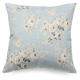 Romantic Florals 24-Inch Square Throw Pillow in Blue