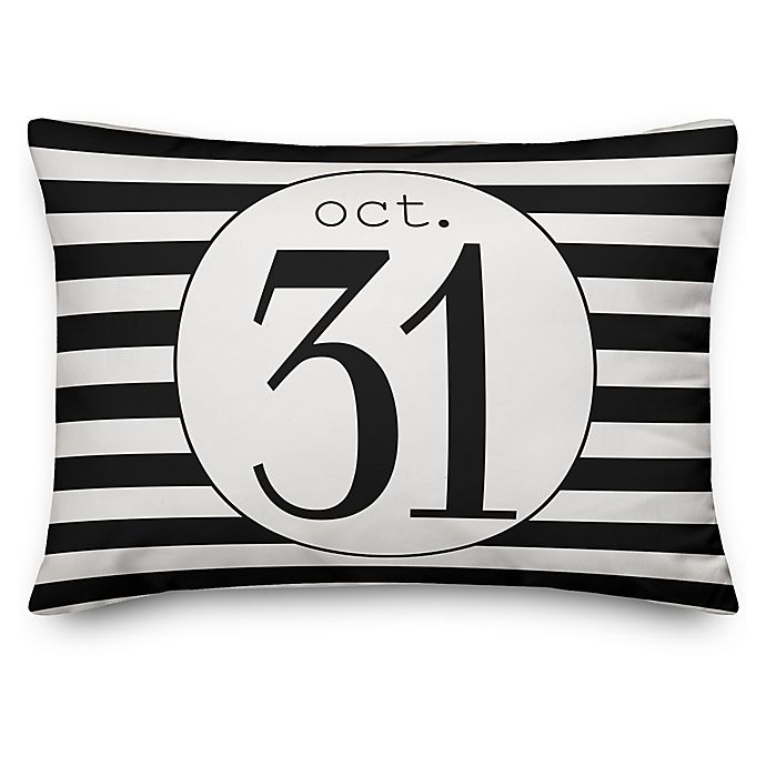Alternate image 1 for Designs Direct Halloween October 31st Oblong Throw Pillow