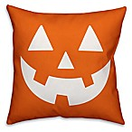 Designs Direct Halloween Jack-O Face Square Pillow