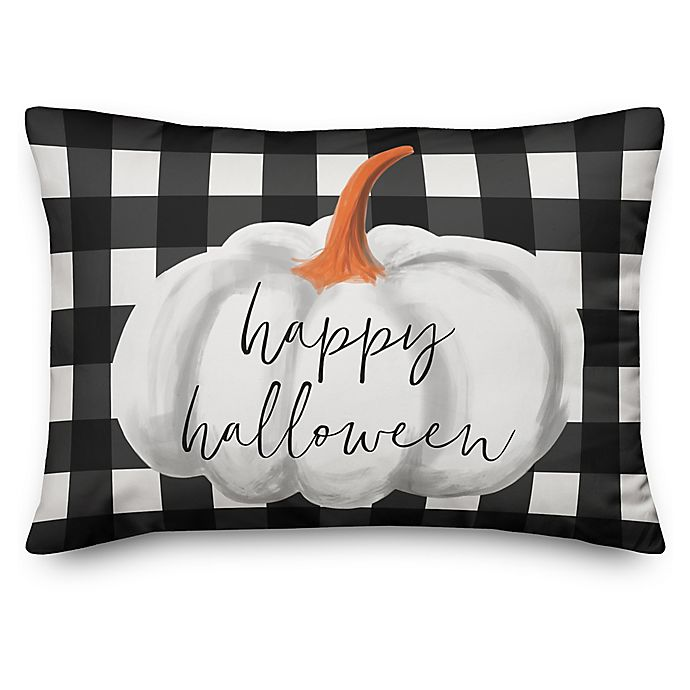 Alternate image 1 for Designs Direct Happy Haunting Buffalo Check Pillow