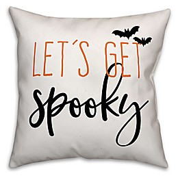 Designs Direct Halloween Let's Get Spooky Square Throw Pillow
