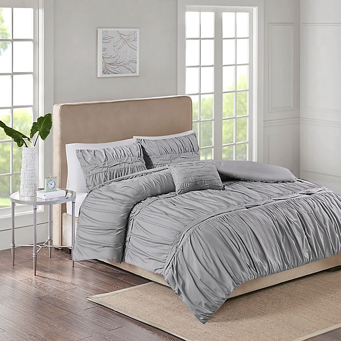 Alternate image 1 for Ciera 4-Piece King Comforter Set in Grey