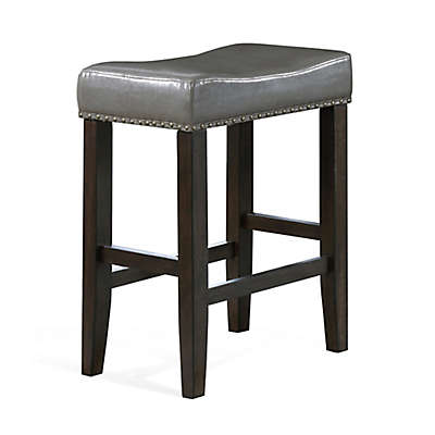 American Woodcrafters Faux Leather Upholstered Jersey Bar Stool