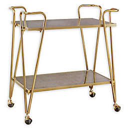 Madison Park Elon Bar Cart in Gold