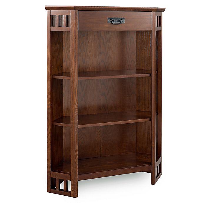 Alternate image 1 for Leick Home Mission 3-Shelf Corner Bookcase Mantel in Oak