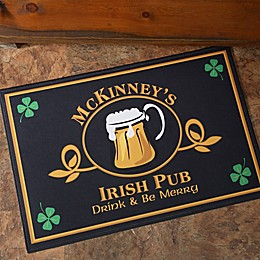 Old Irish Pub 18-Inch x 27-Inch Doormat