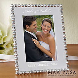 Mariposa® String of Pearls 5-Inch x 7-Inch Wedding Picture Frame