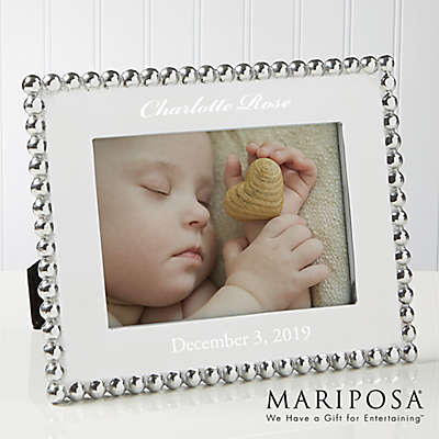 Mariposa® String of Pearls 5-Inch x 7-Inch Baby Picture Frame