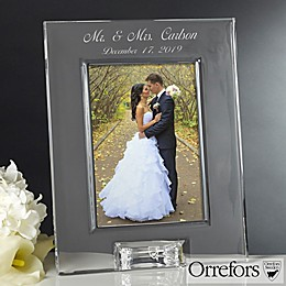 Orrefors 5-Inch x 7-Inch Crystal Wedding Picture Frame