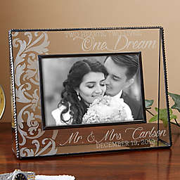 Two Hearts, Two Lives, One Dream 4-Inch x 6-Inch Glass Picture Frame