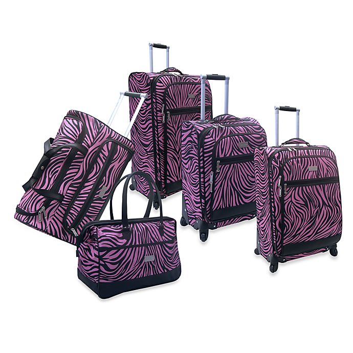 Nicole Miller NY Wild Zebra Luggage | Bed Bath & Beyond
