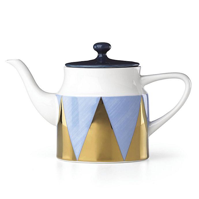 Alternate image 1 for Lenox® Luca Andrisani Blue Azzurro Angles Teapot
