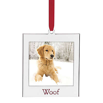 "Lenox® ""Woof"" 2-Inch x 2-Inch Frame Christmas Ornament"