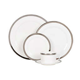 Nevaeh® White by Fitz and Floyd® Grand Rim Platinum Dinnerware Collection