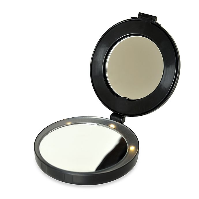 Alternate image 1 for 10x/1x Lighted Compact and Mini Vanity Mirror