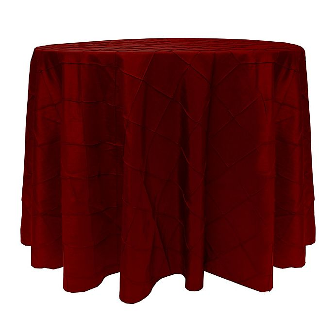 Alternate image 1 for Bombay 60-Inch Round Tablecloth in Garnet/Burgundy