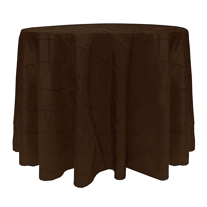 Alternate image 1 for Bombay 60-Inch Round Tablecloth in Chocolate