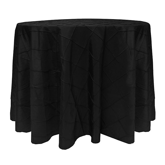 Alternate image 1 for Bombay 60-Inch Round Tablecloth in Black