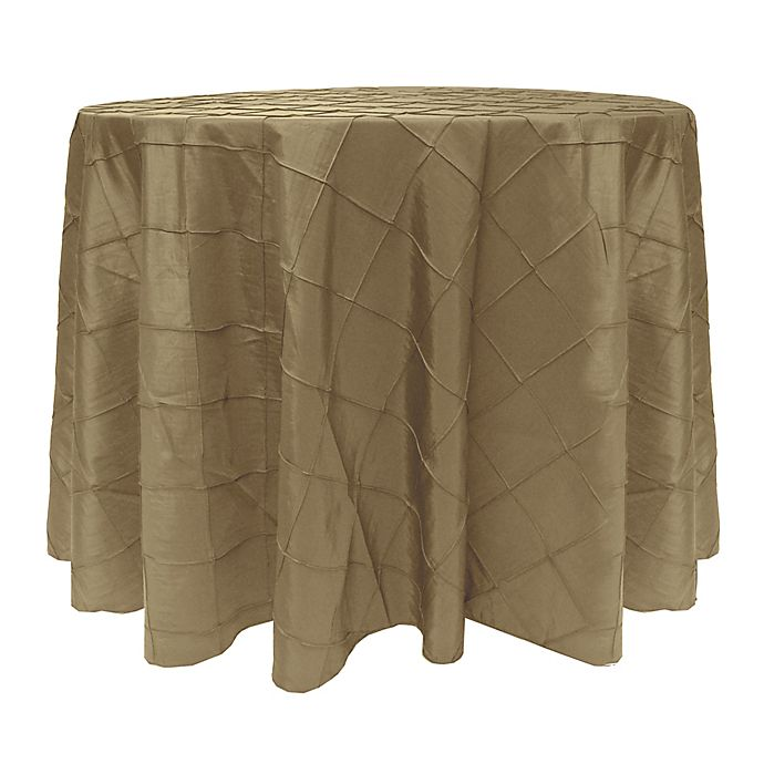 Alternate image 1 for Bombay 72-Inch Round Tablecloth in Beige