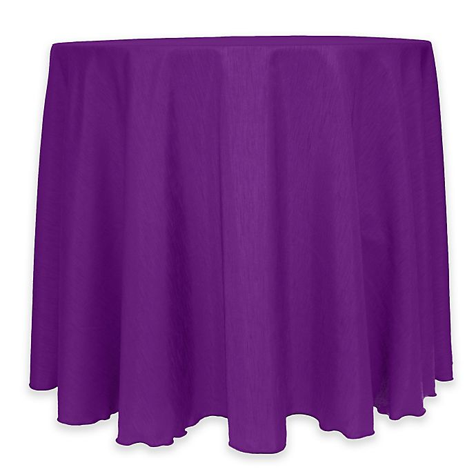 Alternate image 1 for Majestic 60-Inch Round Reversible Shantung Satin Tablecloth in Plum