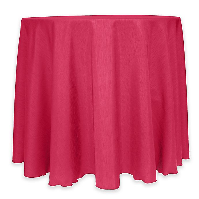 Alternate image 1 for Majestic 60-Inch Round Reversible Shantung Satin Tablecloth in Watermelon