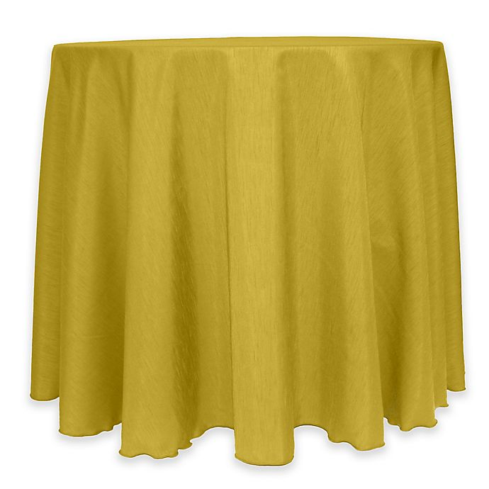 Alternate image 1 for Majestic 60-Inch Round Reversible Shantung Satin Tablecloth in Gold