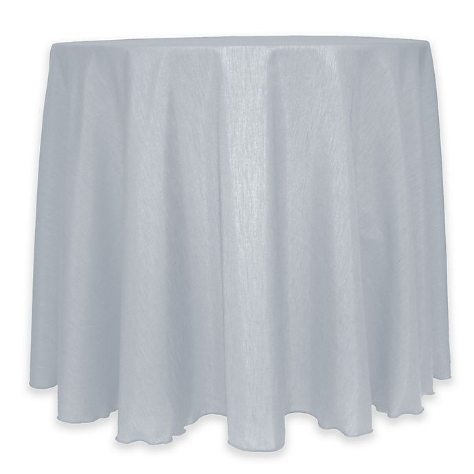 Alternate image 1 for Majestic 60-Inch Round Reversible Shantung Satin Tablecloth in Silver